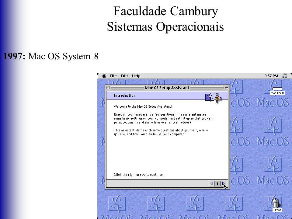 Faculdade Cambury Sistemas Operacionais 1997: Mac OS System 8