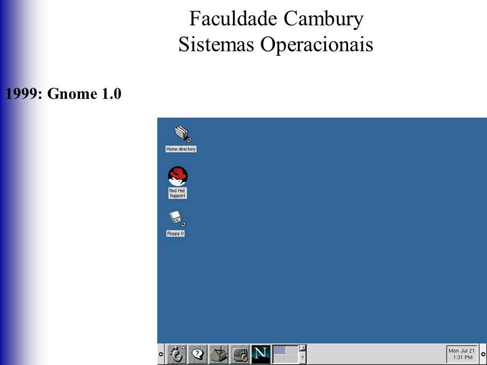 Faculdade Cambury Sistemas Operacionais 1999: Gnome 1.0