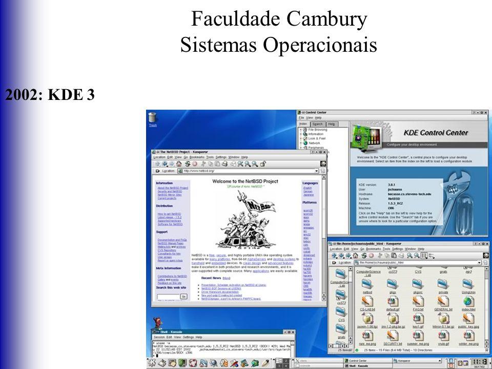 Faculdade Cambury Sistemas Operacionais 2002: KDE 3