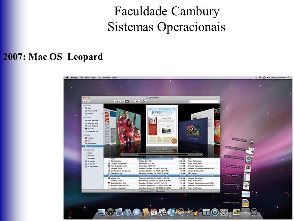 Faculdade Cambury Sistemas Operacionais 2007: Mac OS Leopard