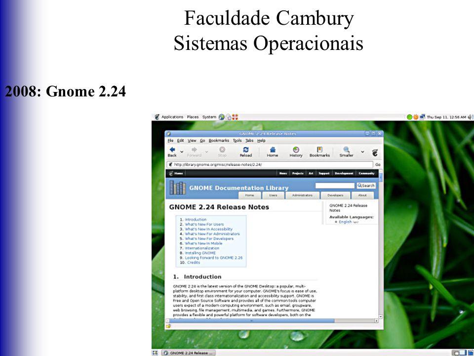 Faculdade Cambury Sistemas Operacionais 2008: Gnome 2.24