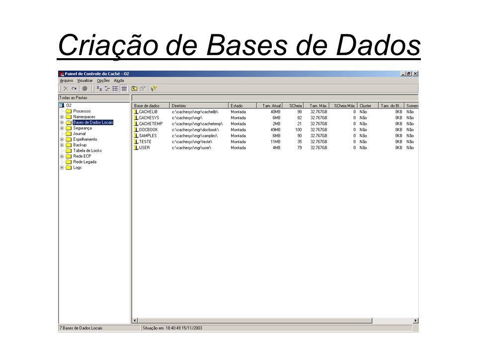 Criação de Bases de Dados