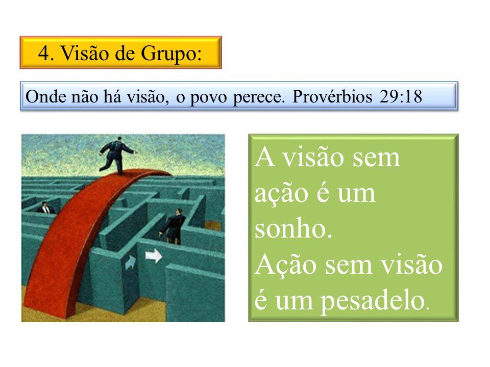 4.Visão de Grupo: Onde não há visão, o povo perece.
