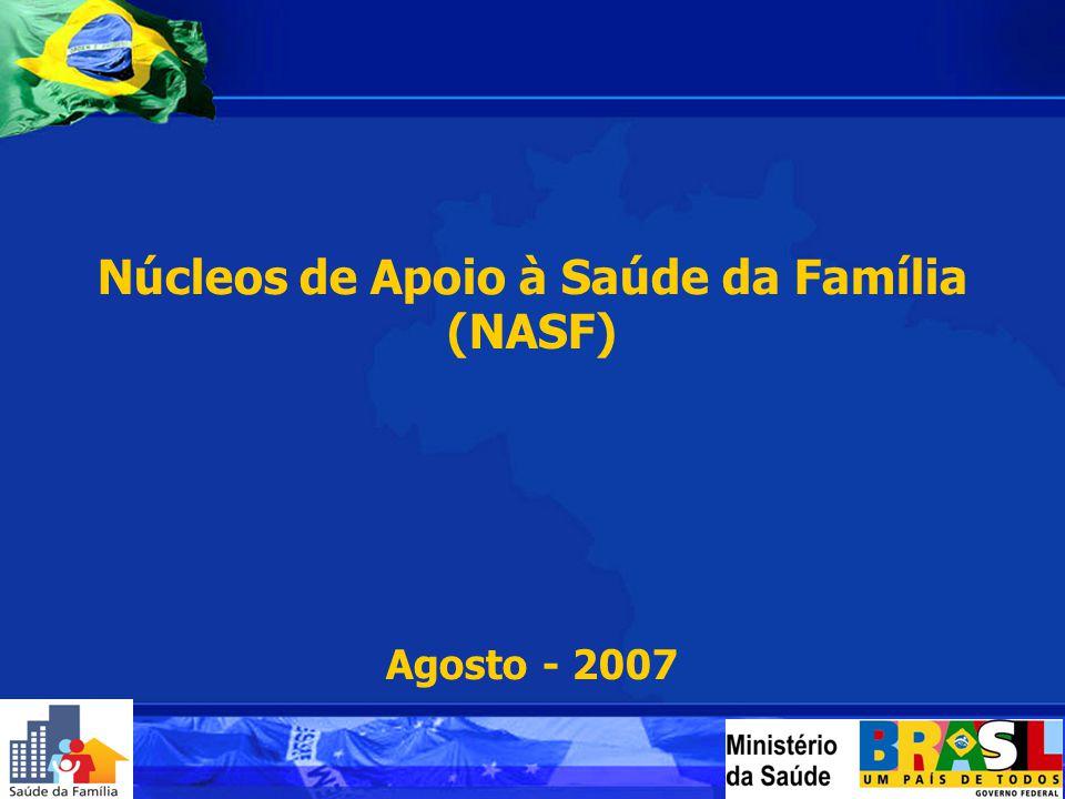 Núcleos de Apoio à Saúde da Família (NASF) Agosto - 2007