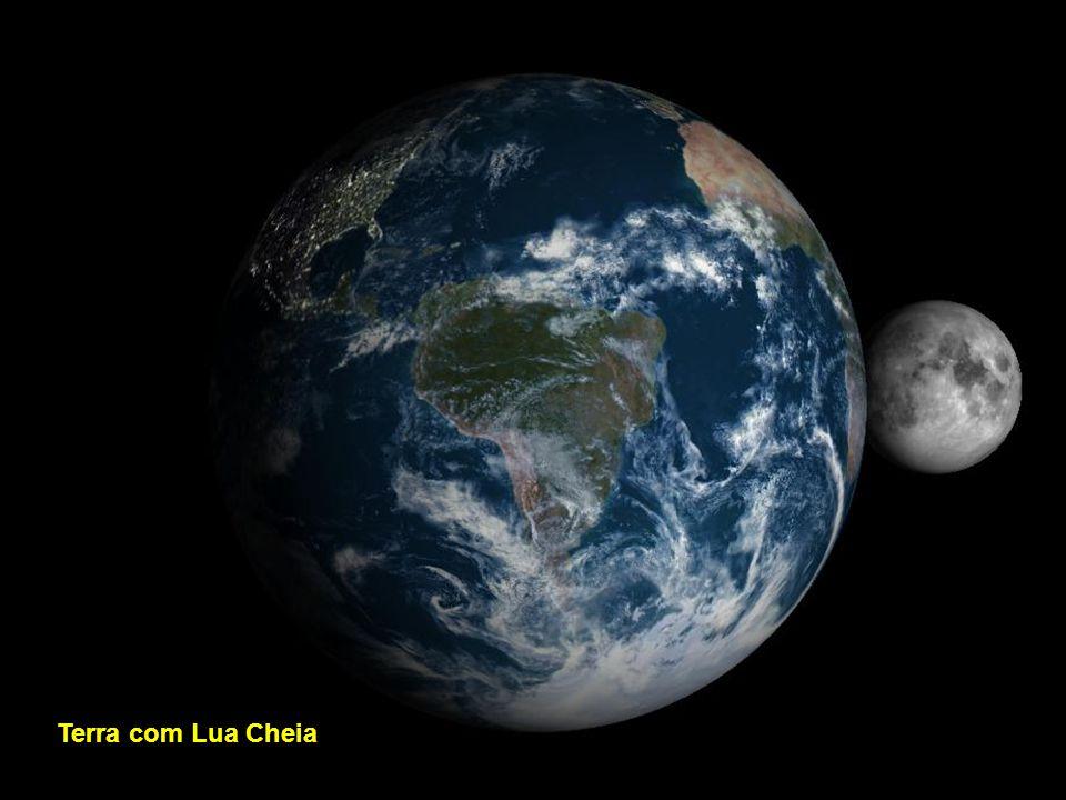 Terra com Lua Nova