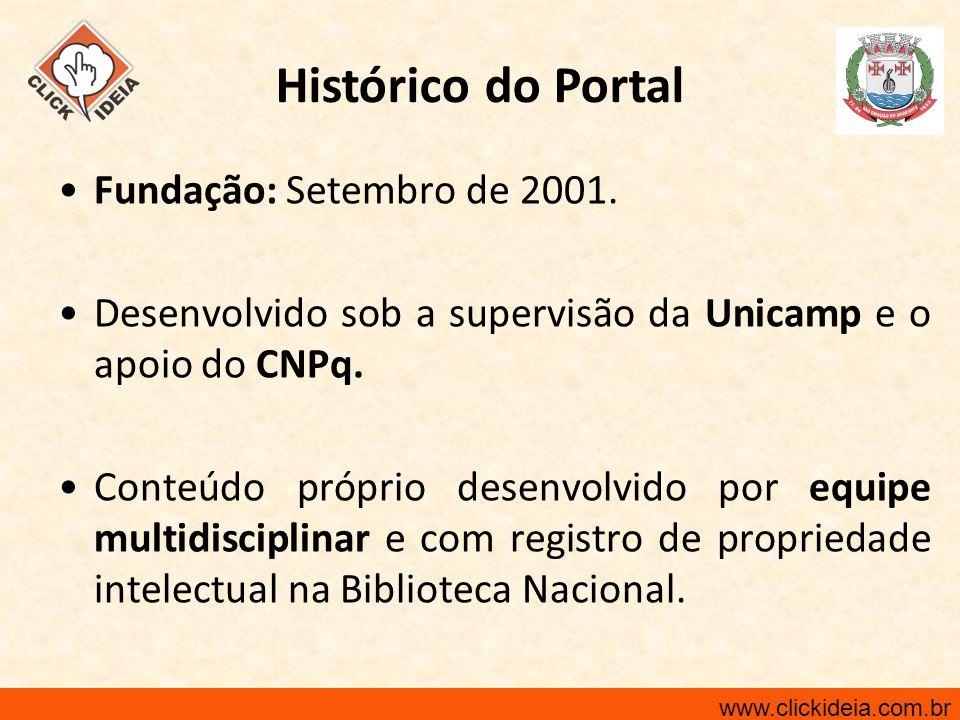 Fundação: Setembro de 2001. Desenvolvido sob a supervisão da Unicamp e o apoio do CNPq. Conteúdo próprio desenvolvido por equipe multidisciplinar e co