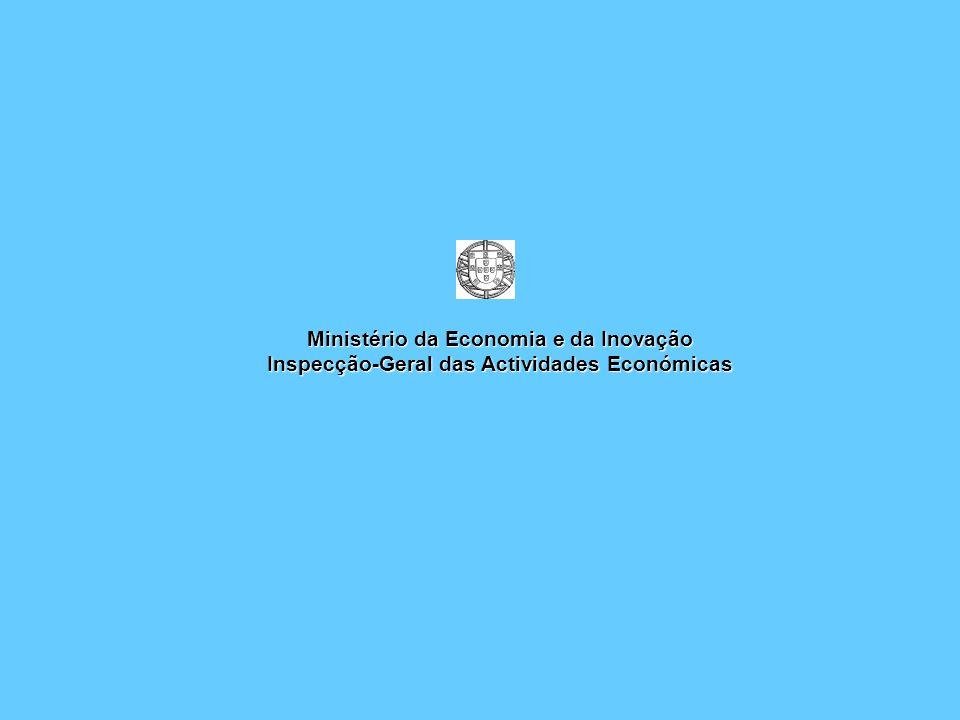 Ministério da Economia e da Inovação Inspecção-Geral das Actividades Económicas