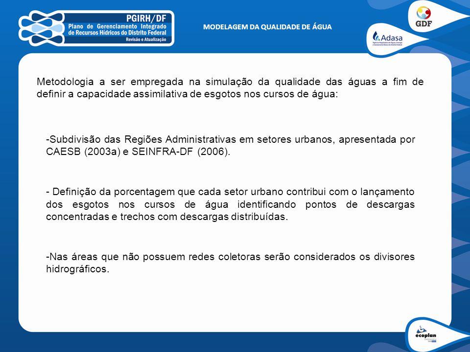 MODELAGEM DA QUALIDADE DE ÁGUA - Possibilita discretização de afluentes do canal principal, bem como de afluentes de ordem secundária.