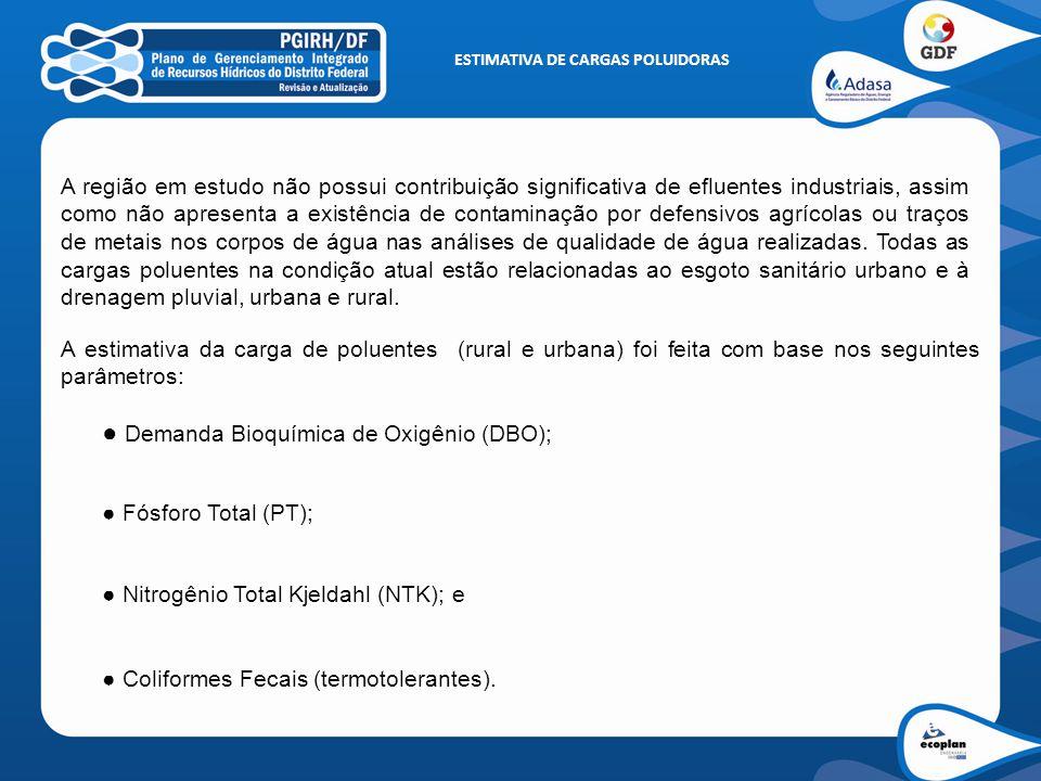 ESTIMATIVA CARGAS POLUIDORAS Contribuição Rural – DBO