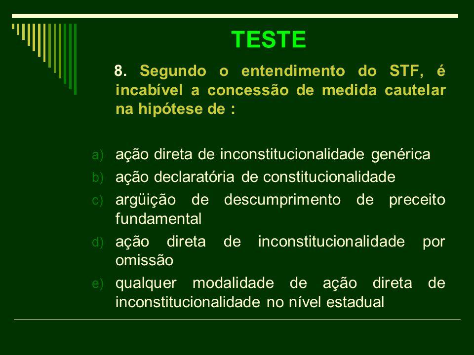 TESTE 8.