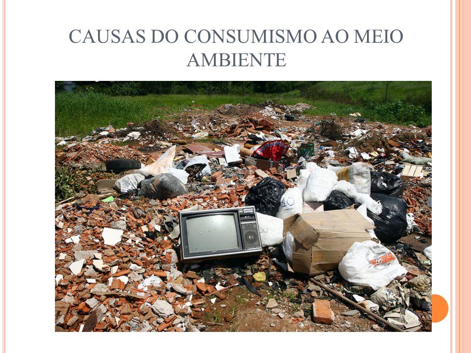 CAUSAS DO CONSUMISMO AO MEIO AMBIENTE
