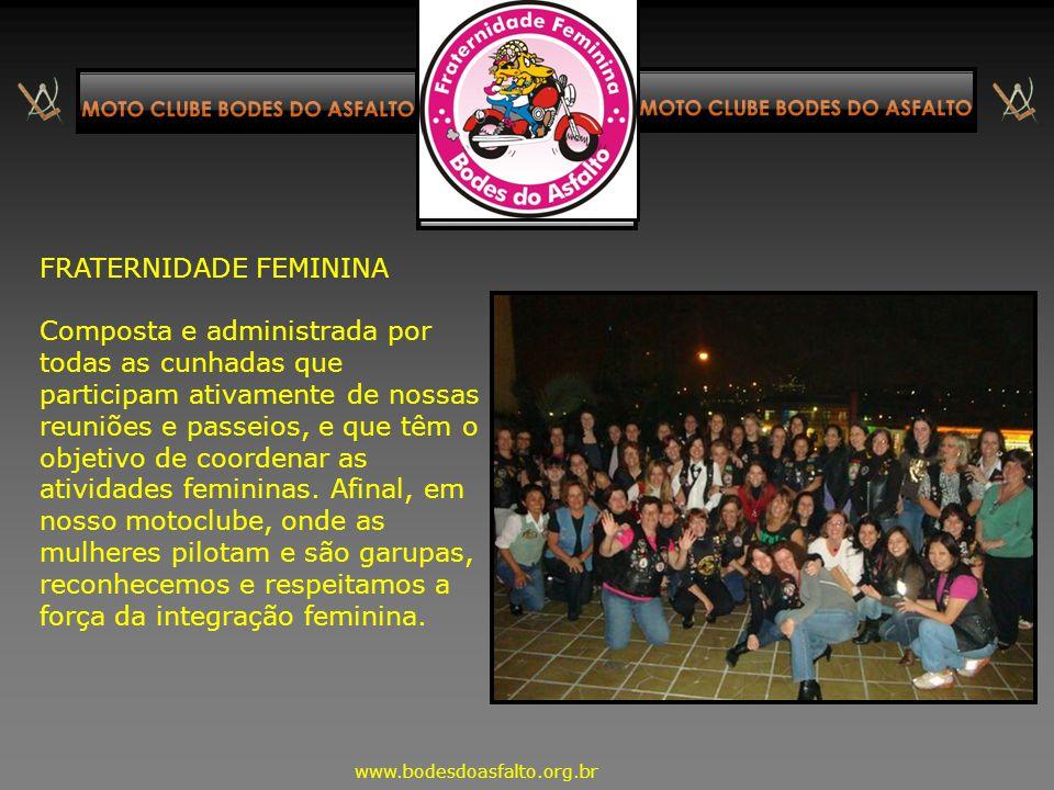 E algumas de nossas cunhadas também nos acompanham no guidão de suas motos.... www.bodesdoasfalto.org.br
