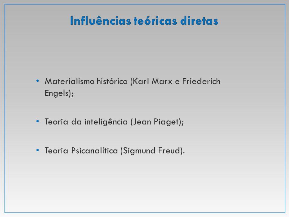 Materialismo histórico (Karl Marx e Friederich Engels); Teoria da inteligência (Jean Piaget); Teoria Psicanalítica (Sigmund Freud).