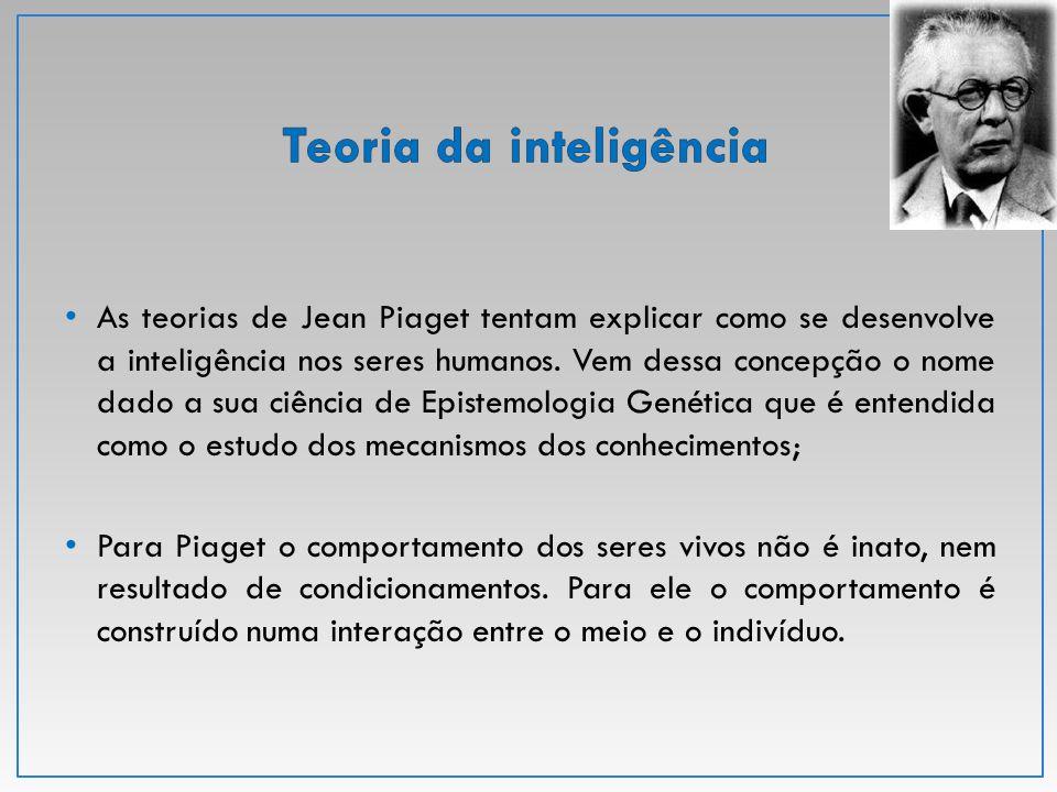 A inteligência para Piaget é o mecanismo de adaptação do organismo a uma situação nova e, como tal, implica a construção contínua de novas estruturas.