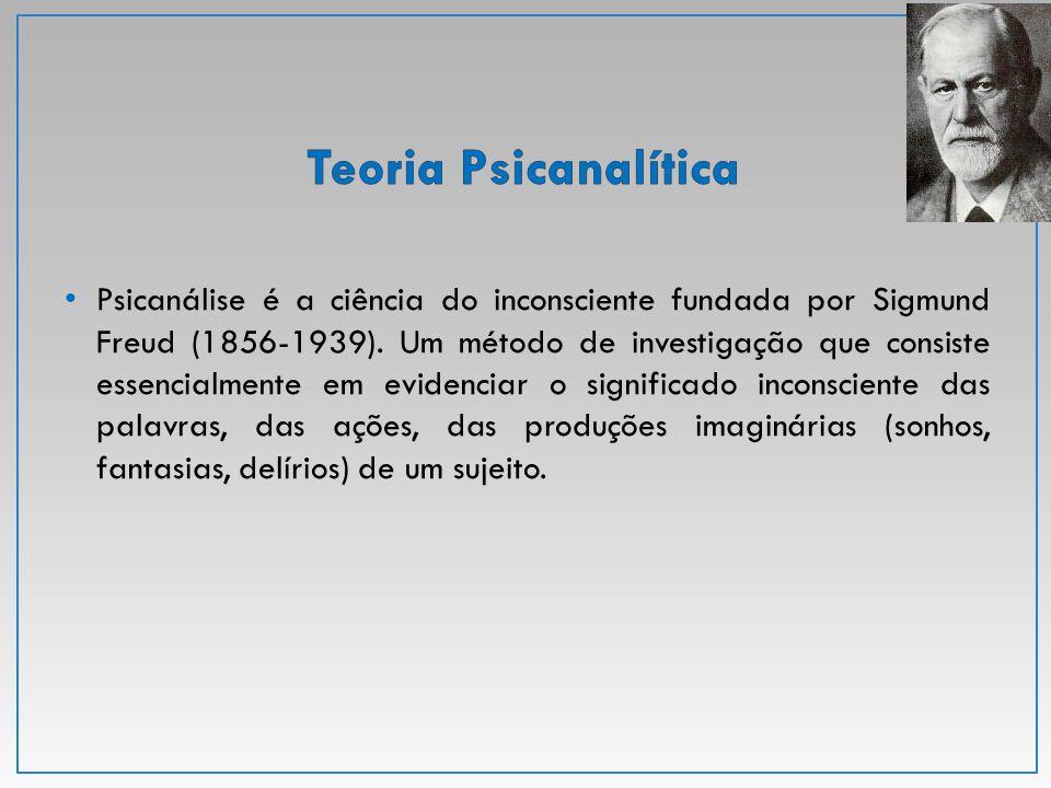 Psicanálise é a ciência do inconsciente fundada por Sigmund Freud (1856-1939). Um método de investigação que consiste essencialmente em evidenciar o s