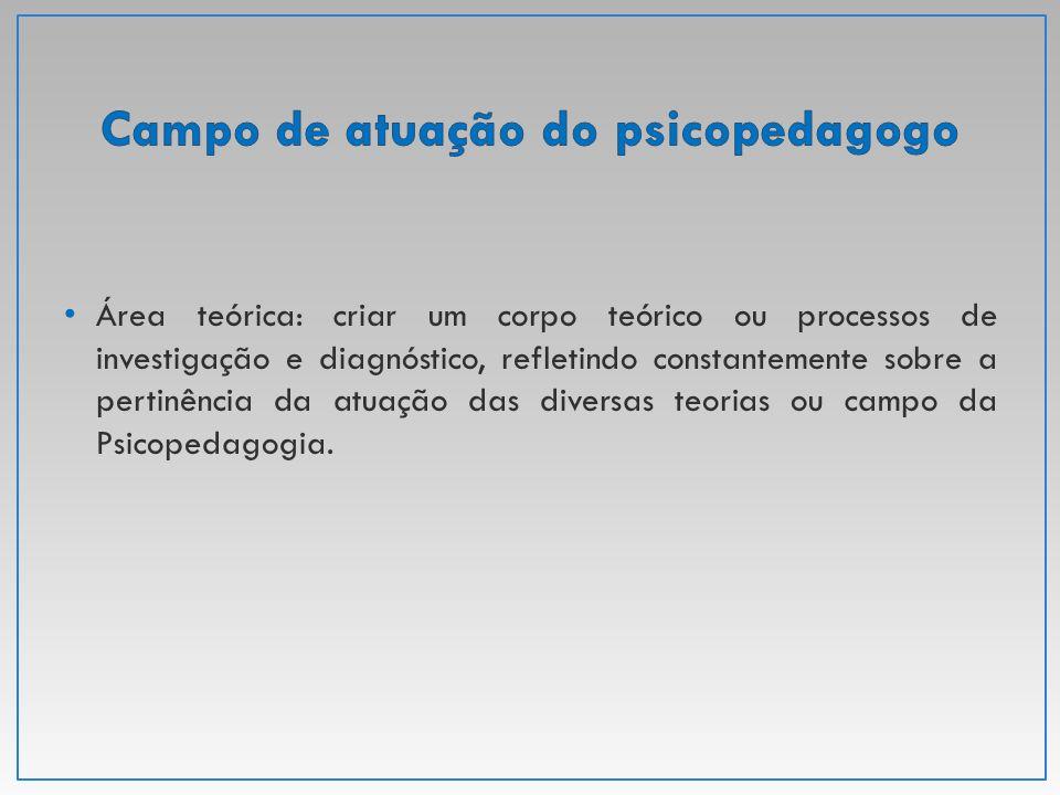 Tratamos de temas diretamente ligados aos fundamentos ao trabalho do psicopedagogo: Histórico da psicopedagogia no Brasil; Distinções entre o trabalho clínico e o trabalho preventivo.
