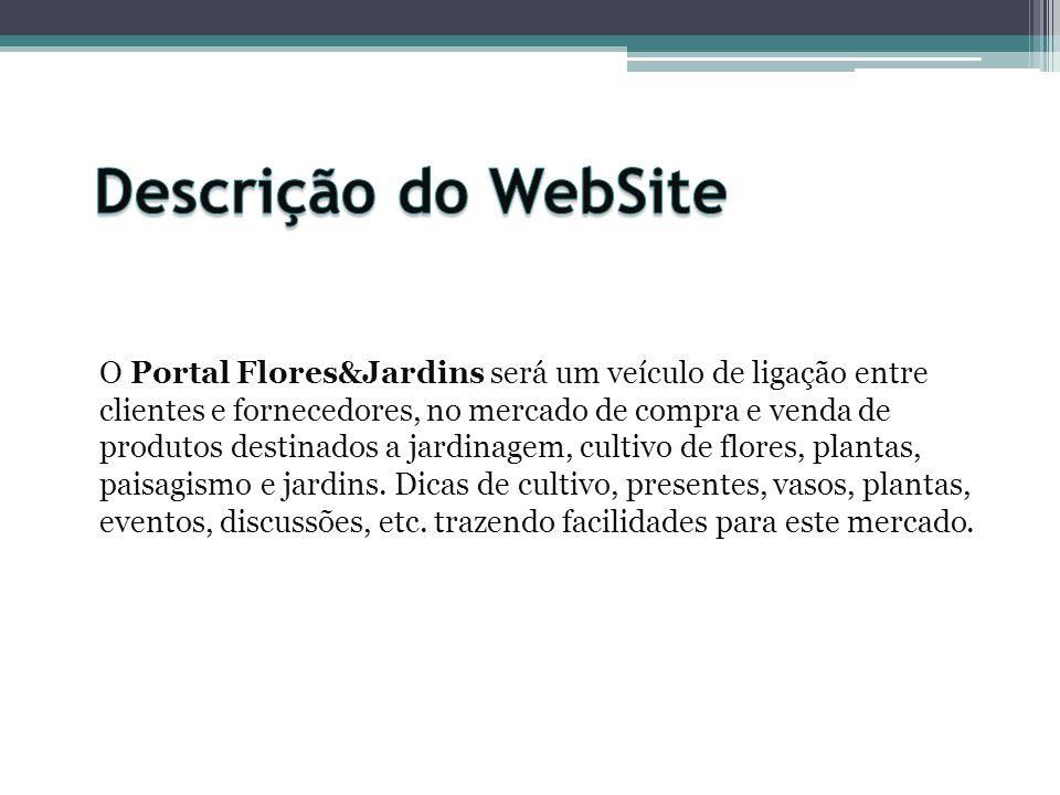 O Portal Flores&Jardins será um veículo de ligação entre clientes e fornecedores, no mercado de compra e venda de produtos destinados a jardinagem, cu