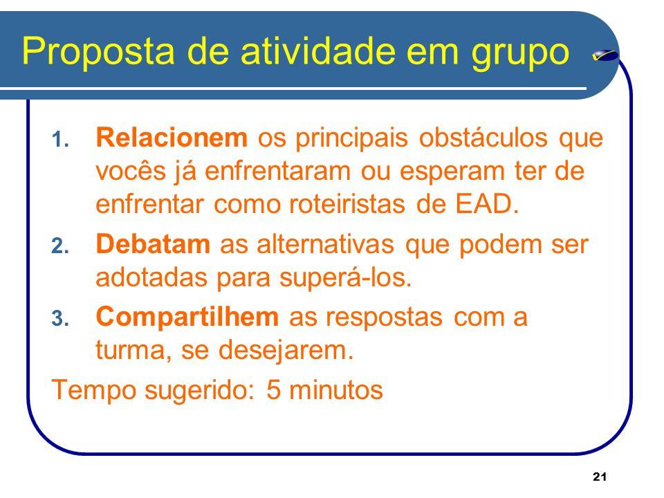 21 Proposta de atividade em grupo 1.