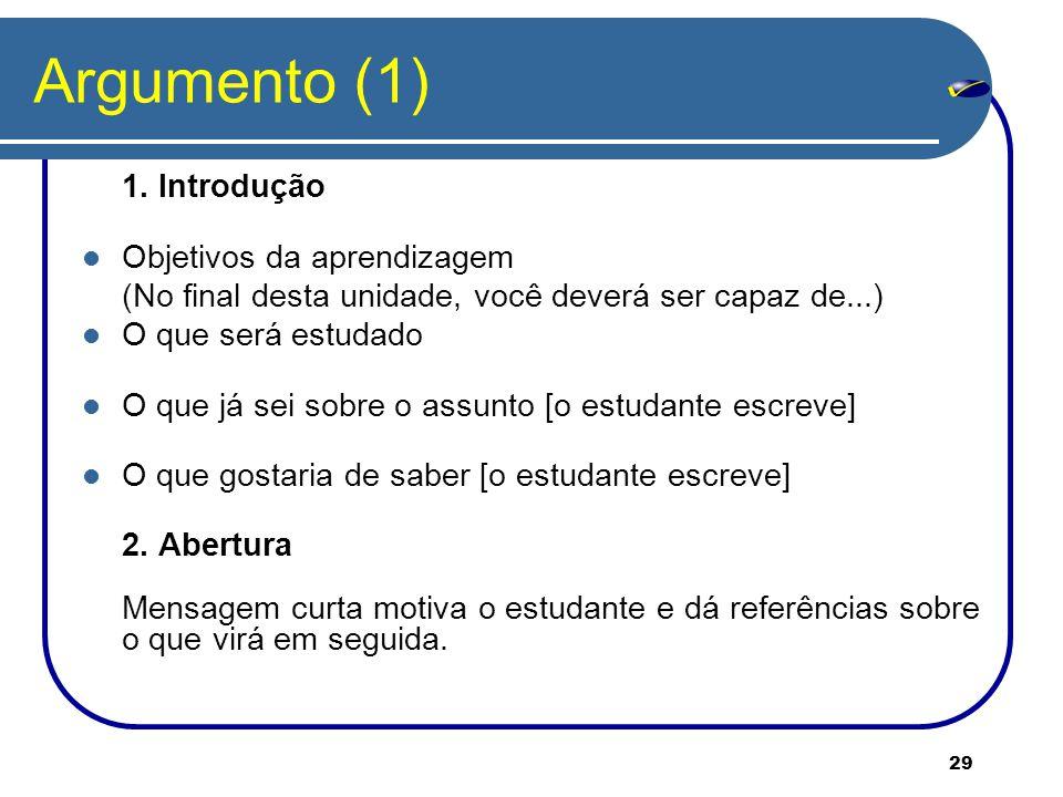 29 Argumento (1) 1.