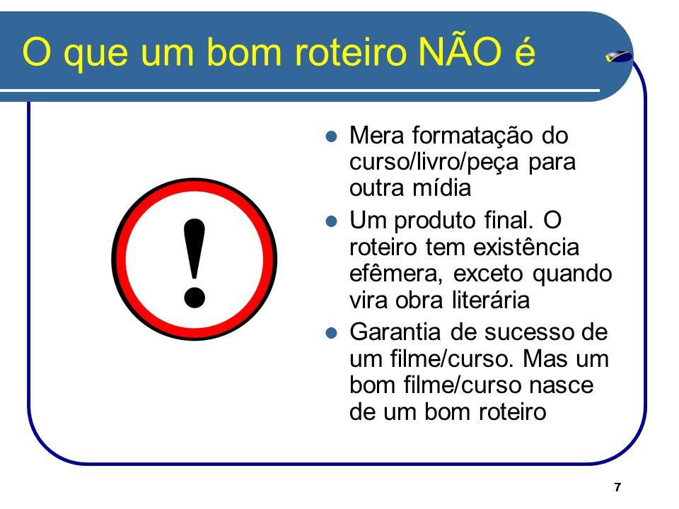 18 Mais dificuldades Resistência do professor a contrapontos Prazo curto demais Estrutura indefinida do curso (monitoria etc.)...