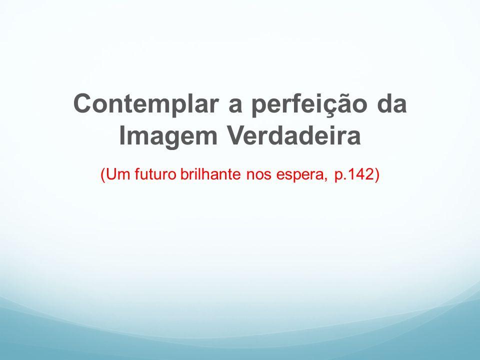 Contemplar a perfeição da Imagem Verdadeira (Um futuro brilhante nos espera, p.142)