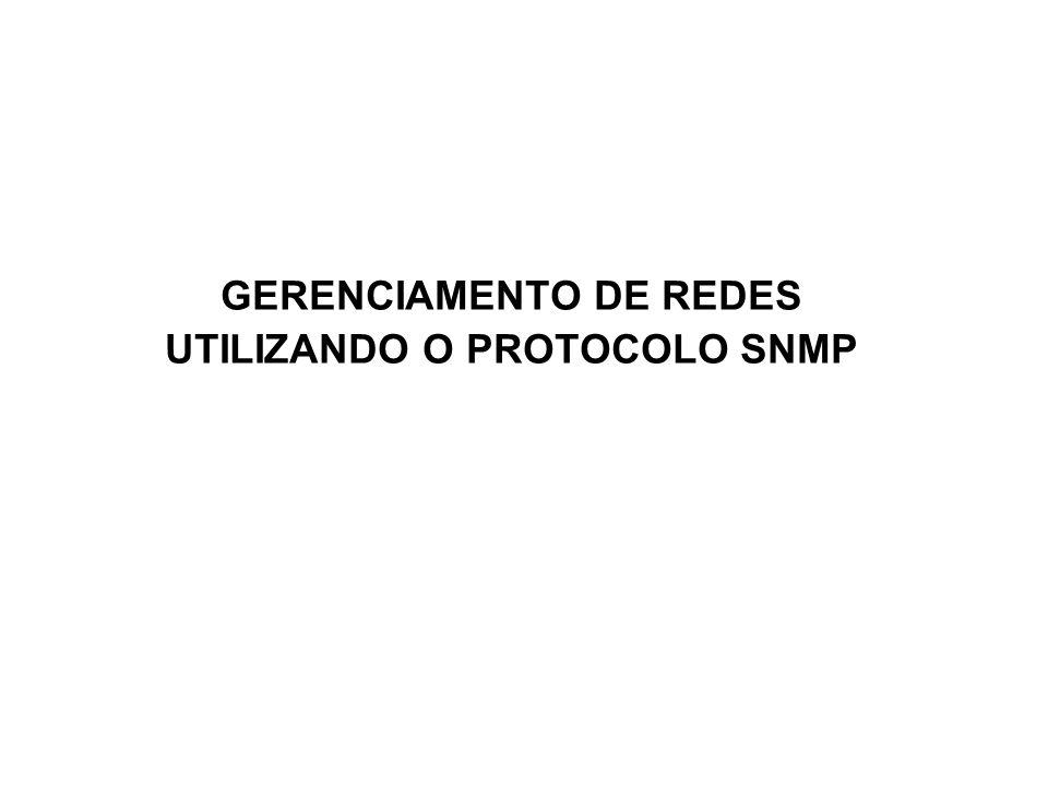 1 SNMP GERENCIAMENTO DE REDES UTILIZANDO O PROTOCOLO SNMP