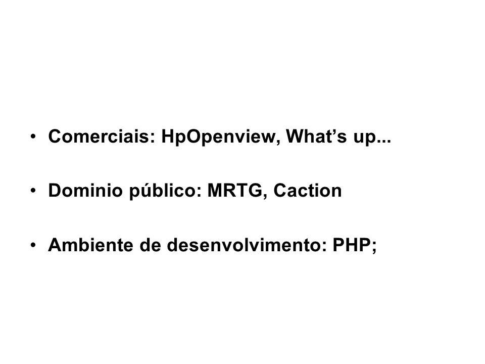 28 SNMP / Ferramentas de gerencia SNMP Comerciais: HpOpenview, What's up...