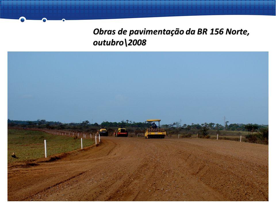 Obras de pavimentação da BR 156 Norte, outubro\2008