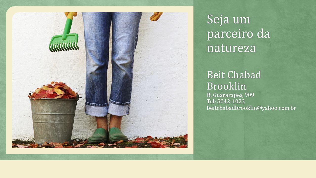 Seja um parceiro da natureza Beit Chabad Brooklin R.