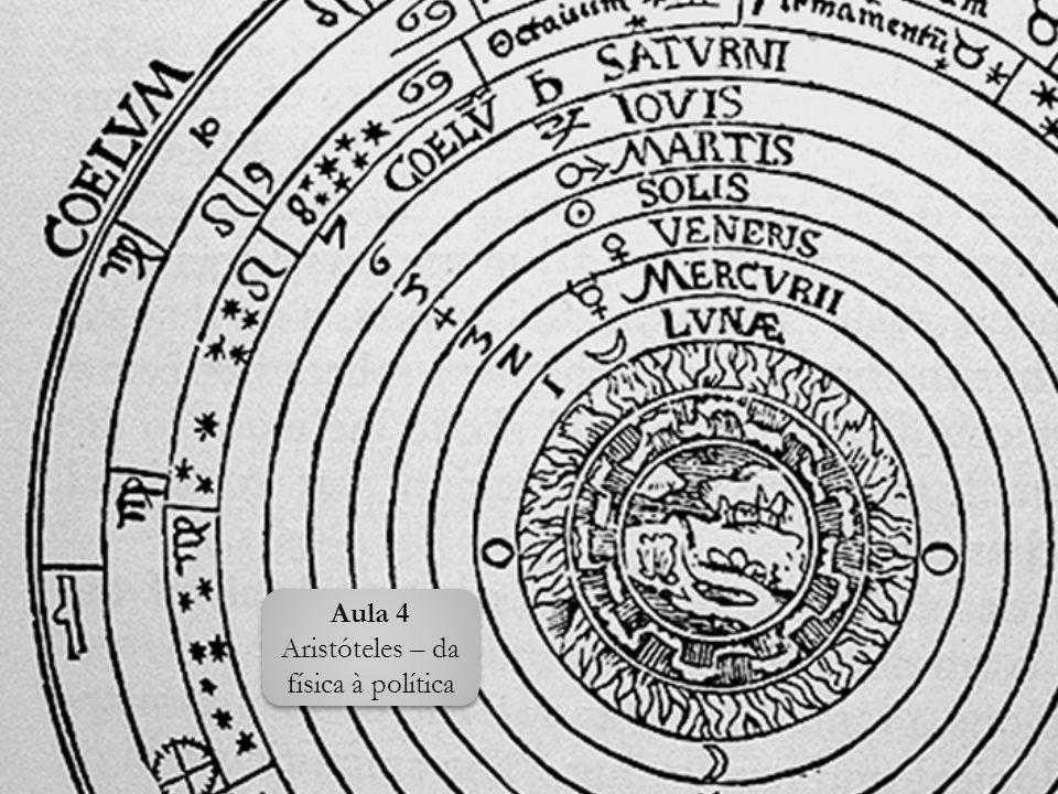 Aula 4 Aristóteles – da física à política Aula 4 Aristóteles – da física à política