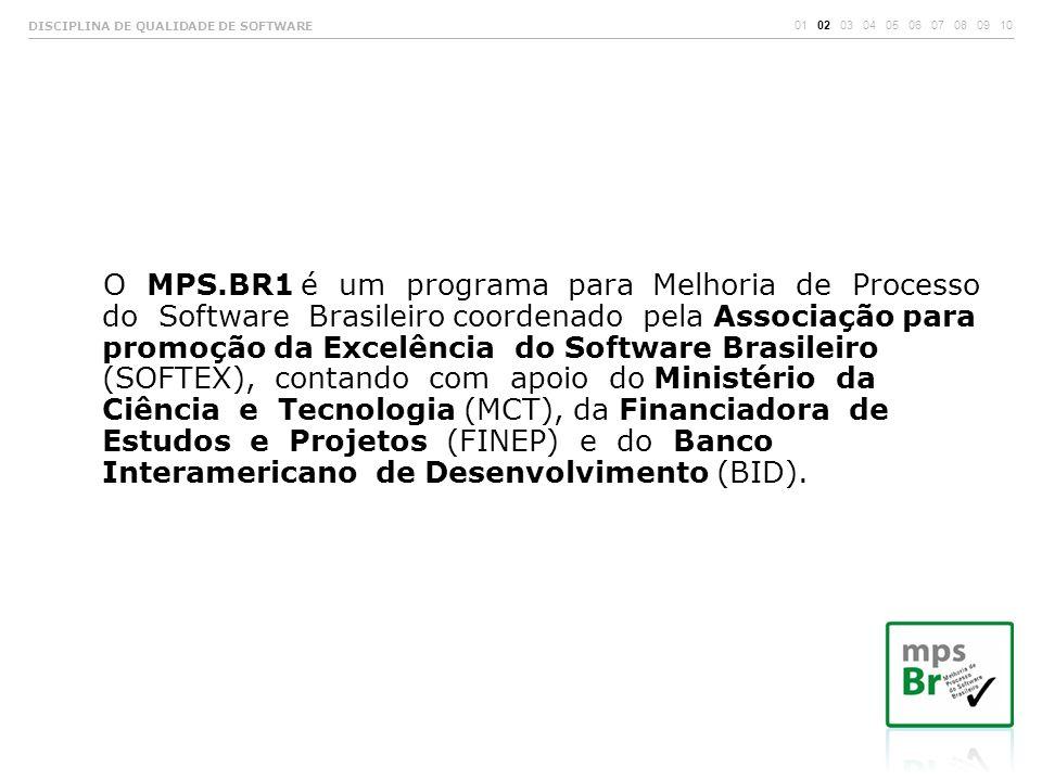 O MPS.BR1 é um programa para Melhoria de Processo do Software Brasileiro coordenado pela Associação para promoção da Excelência do Software Brasileiro