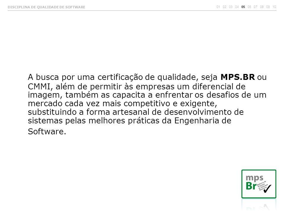 A busca por uma certificação de qualidade, seja MPS.BR ou CMMI, além de permitir às empresas um diferencial de imagem, também as capacita a enfrentar