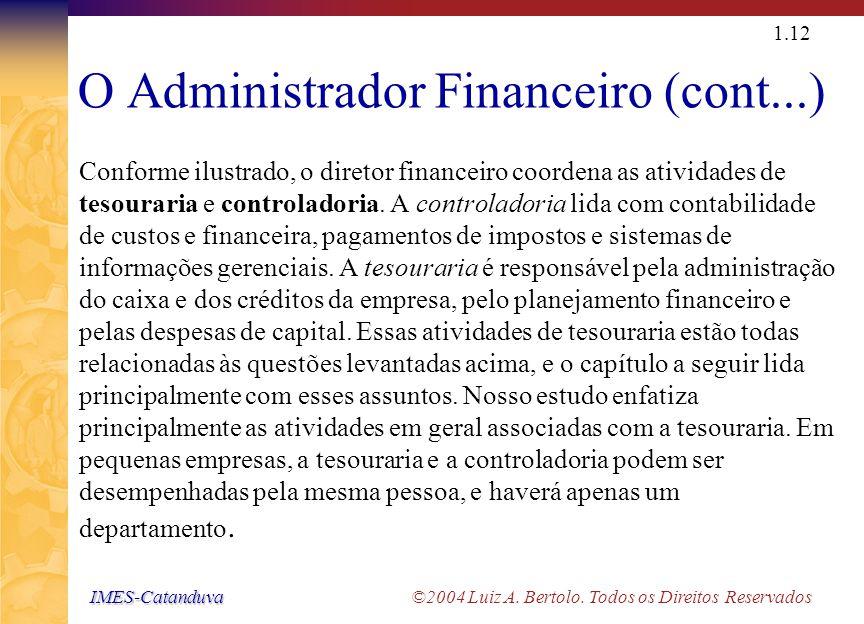 IMES-Catanduva IMES-Catanduva ©2004 Luiz A. Bertolo. Todos os Direitos Reservados 1.11