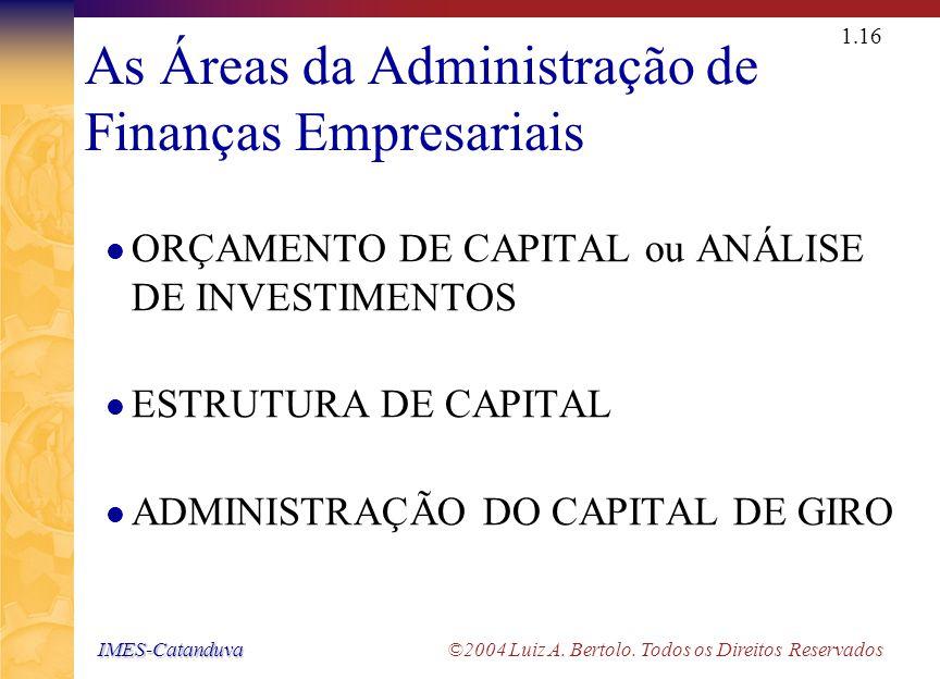IMES-Catanduva IMES-Catanduva ©2004 Luiz A. Bertolo. Todos os Direitos Reservados 1.15 Salário dos CEO