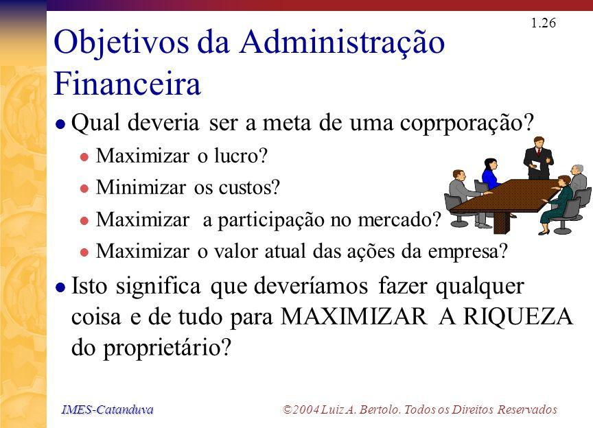 IMES-Catanduva IMES-Catanduva ©2004 Luiz A. Bertolo. Todos os Direitos Reservados 1.25 Modalidades de Organização de Empresas - Esquema Firma Individu