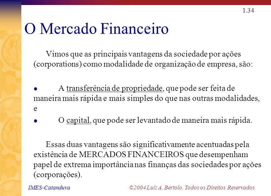 IMES-Catanduva IMES-Catanduva ©2004 Luiz A. Bertolo. Todos os Direitos Reservados 1.33 Metas da Corporação Soluções para os Problemas de Representação