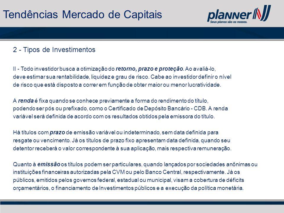 2 - Tipos de Investimentos II - Todo investidor busca a otimização do retorno, prazo e proteção.
