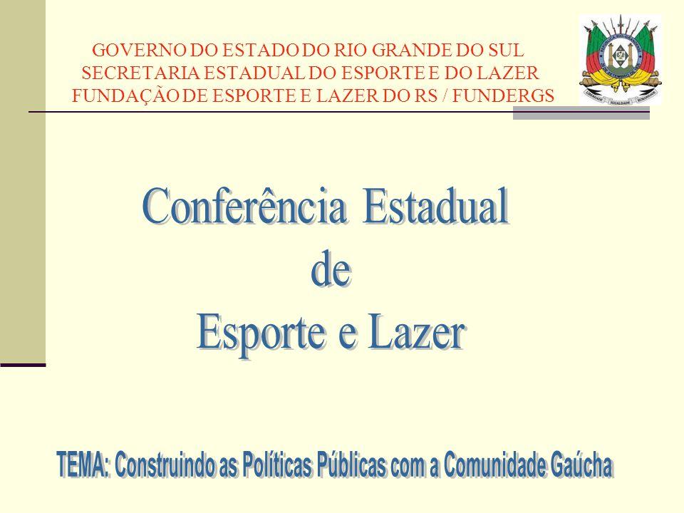 GOVERNO DO ESTADO DO RIO GRANDE DO SUL SECRETARIA ESTADUAL DO ESPORTE E DO LAZER FUNDAÇÃO DE ESPORTE E LAZER DO RS / FUNDERGS