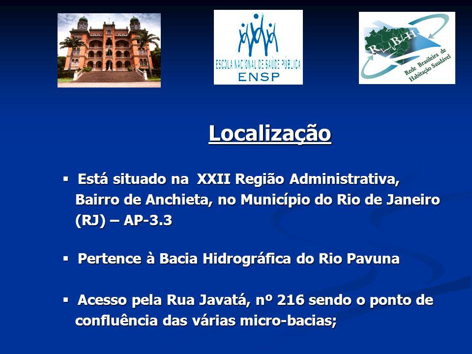 Localização Localização  Está situado na XXII Região Administrativa, Bairro de Anchieta, no Município do Rio de Janeiro Bairro de Anchieta, no Municí