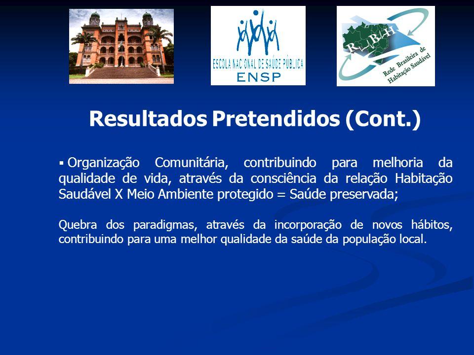 Organização Comunitária, contribuindo para melhoria da qualidade de vida, através da consciência da relação Habitação Saudável X Meio Ambiente prote