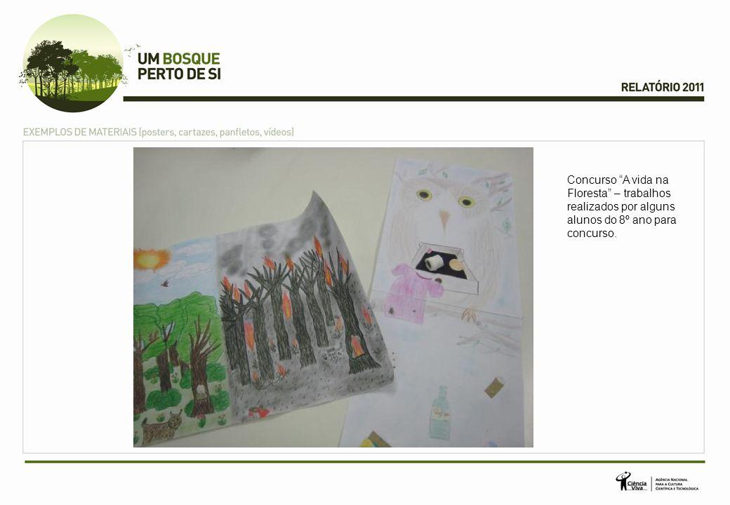 """Concurso """"A vida na Floresta"""" – trabalhos realizados por alguns alunos do 8º ano para concurso."""
