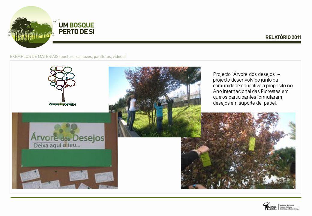 "Projecto ""Árvore dos desejos"" – projecto desenvolvido junto da comunidade educativa a propósito no Ano Internacional das Florestas em que os participa"
