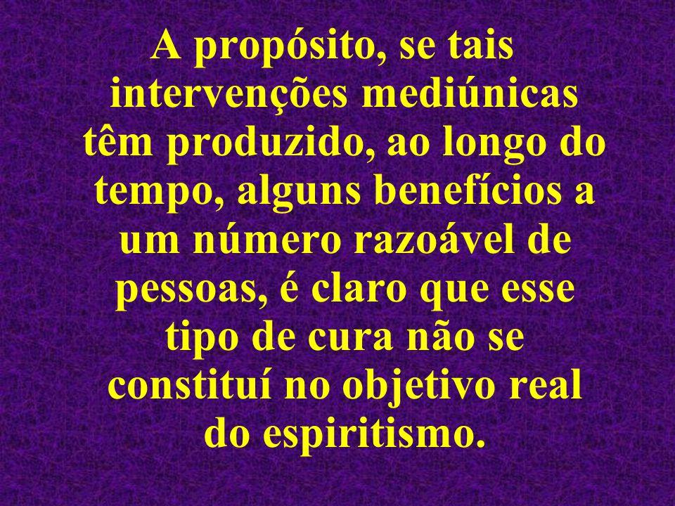 Quando falamos aos meus irmãos a respeito de tratamento espiritual ou de cura, entendemos com isso a recuperação moral do indivíduo, seu reequilíbrio espiritual.