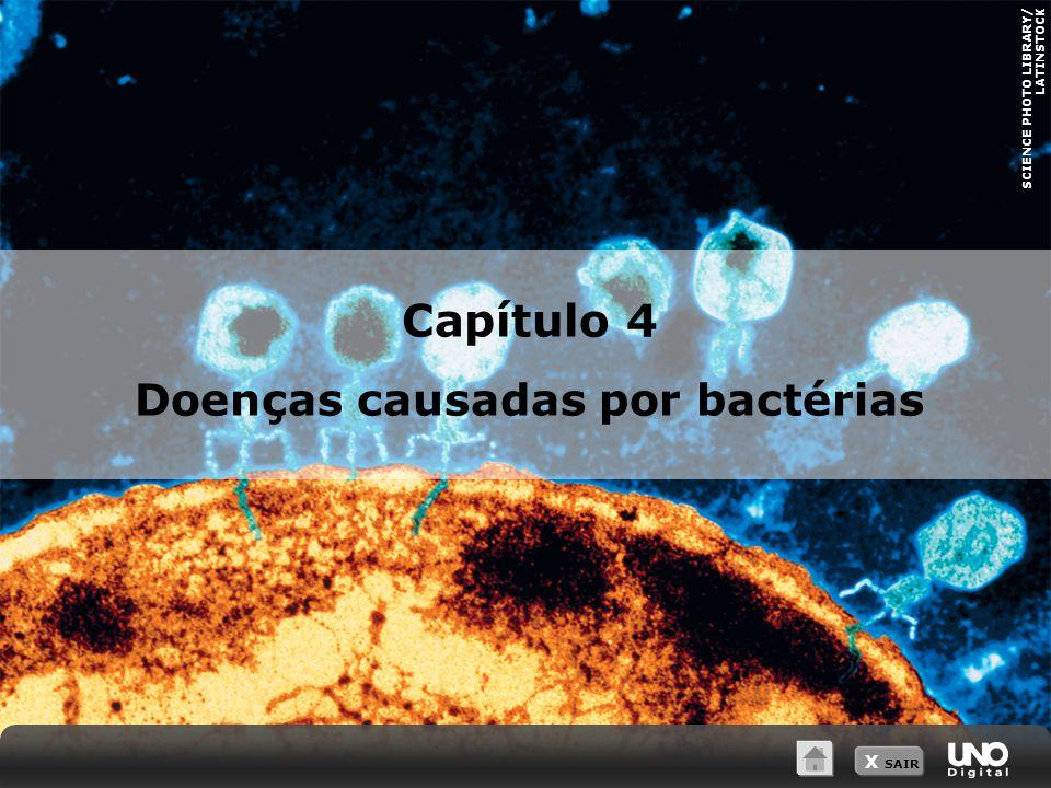 X SAIR SCIENCE PHOTO LIBRARY/ LATINSTOCK Capítulo 4 Doenças causadas por bactérias