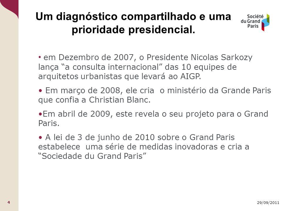 29/09/2011 4 Um diagnóstico compartilhado e uma prioridade presidencial.