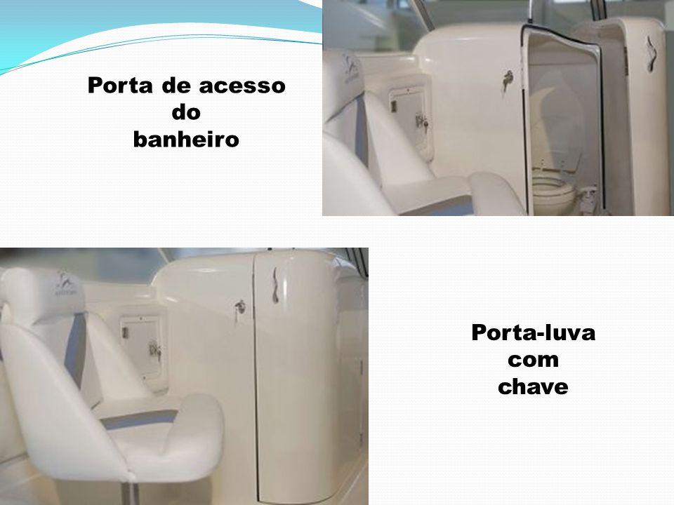 Porta de acesso do banheiro Porta-luva com chave