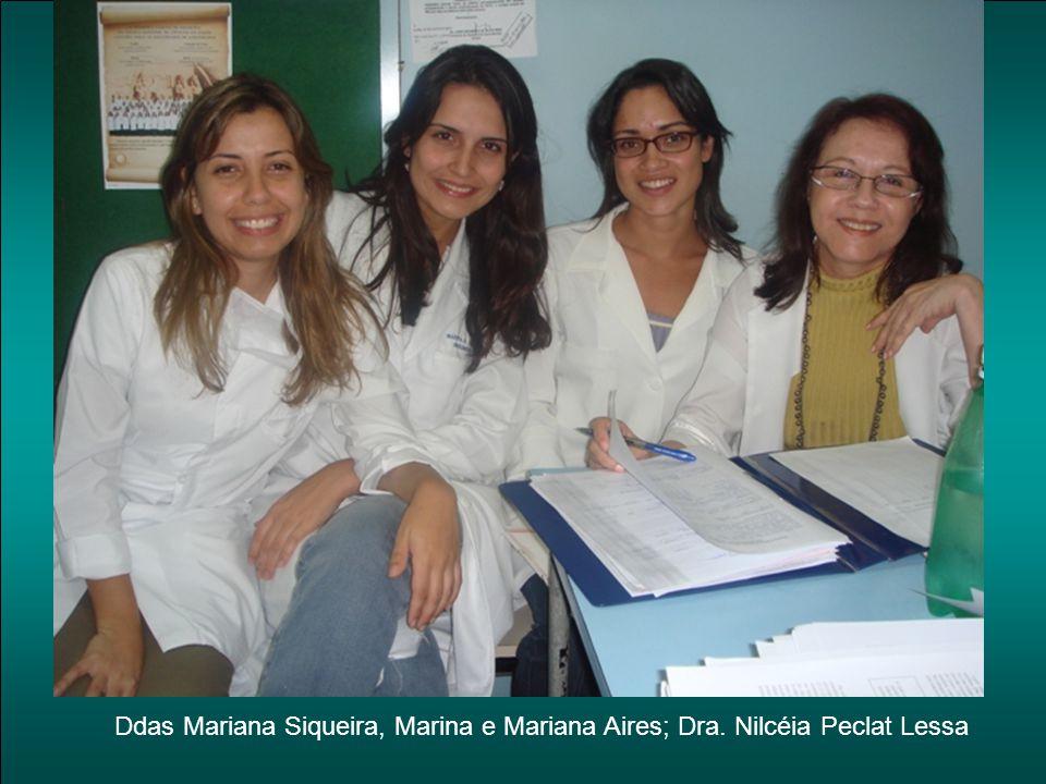 Ddas Mariana Siqueira, Marina e Mariana Aires; Dra. Nilcéia Peclat Lessa