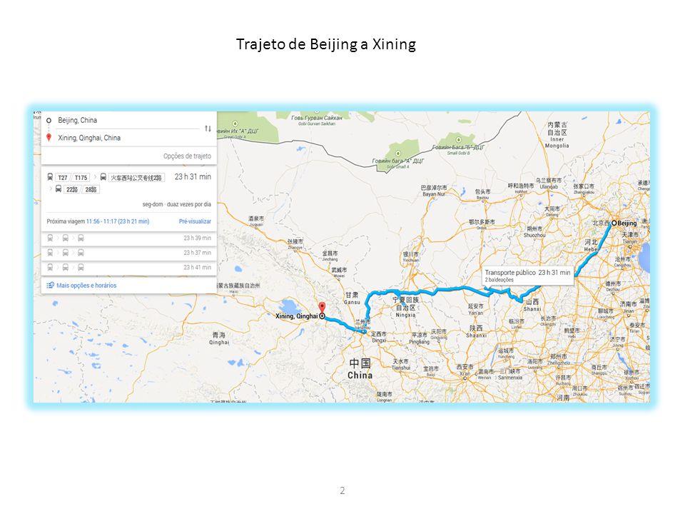 2 Trajeto de Beijing a Xining