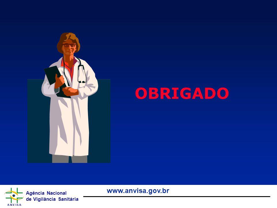 Agência Nacional de Vigilância Sanitária www.anvisa.gov.br OBRIGADO