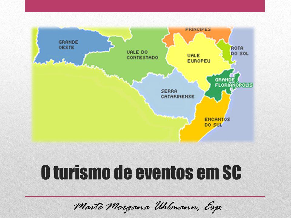 O turismo de eventos em SC Maitê Morgana Uhlmann, Esp.